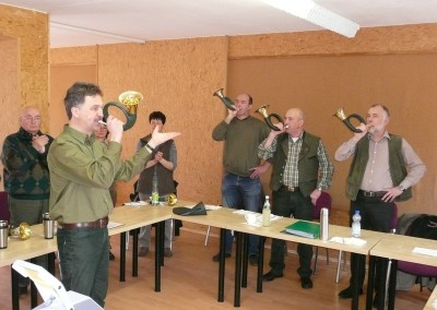 Jagdhornblasen in der Gruppe macht Spaß