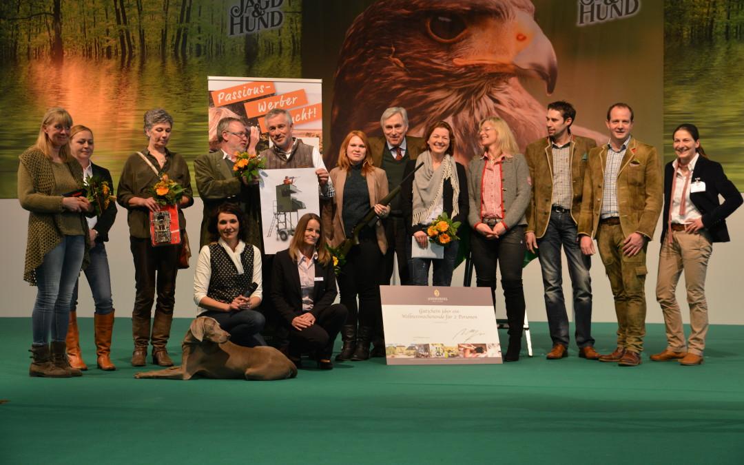"""Passionswerber geehrt: Preise für """"Gemeinsam Jagd erleben 2016"""" verliehen"""