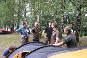 Das Jägerlager wird abgebaut... Foto: Erstling/ LJVB