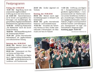 Ahlsdorf Programm