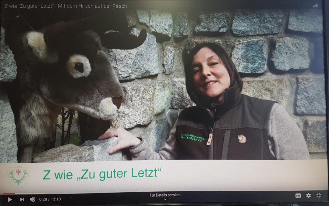"""Youtube-Serie """"Mit dem Hirsch auf der Pirsch"""" nun mit 26 Videos online"""